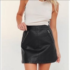 NEW Urban Outfitters Leather Skirt